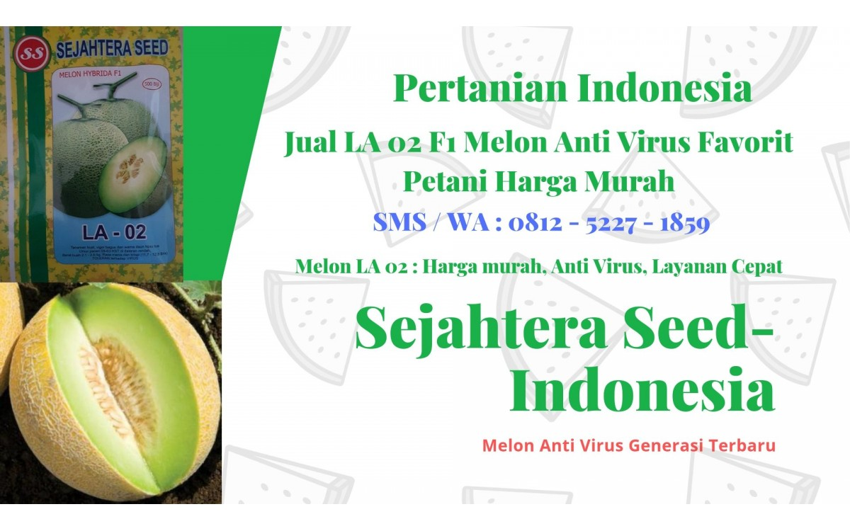 JUAL LA 02 F1 MELON ANTI VIRUS FAVORIT PETANI HARGA MURAH