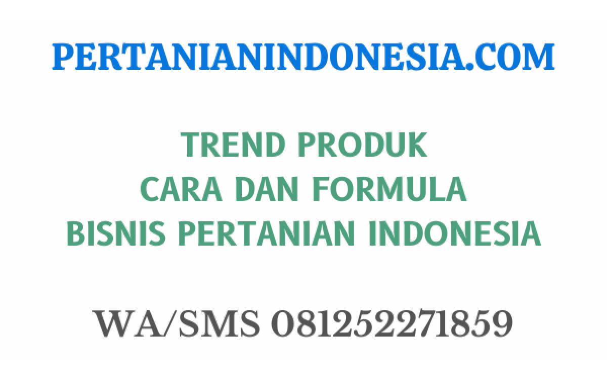 Trend Produk Cara Dan Formula Bisnis Pertanian Indonesia